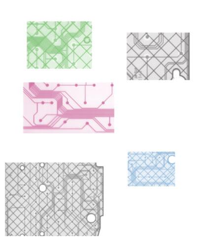 Эта кисть для фотошопа позволит Вам рисовать компьютерные микросхемы.